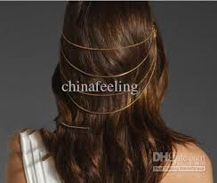 hair chains 2018 hair comb chain jewelry hair cuff pin band chains