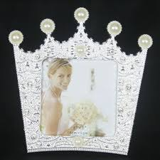 online shop new fashion crystal pearl crown home decor photo frame