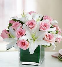 roses and lilies illinois florist fabbrinis flowers a pink arrangement