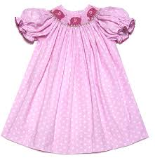 the best dressed child girls pink polka dots smocked pink