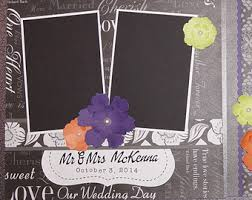 personalized wedding scrapbook custom made wedding scrapbook album you choose colors