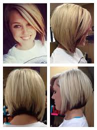 fine graycoming in of short bob hairstyles for 70 yr old asymmetrical bob blonde with red peekaboo salon hair
