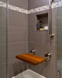 Redwood Shower Bench Building A Tile Shower Bench Stunning Walkin Shower With A Subway