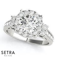 round setting rings images Illusion setting engagement ring halo round setra jpg
