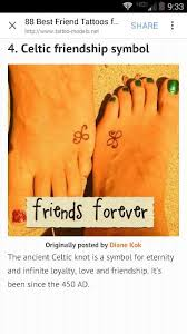 111 best friendship tattoos images on pinterest love projects