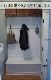 Mudroom Storage Bench Diy Mudroom Storage Bench And Coat Rack