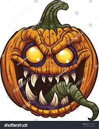 halloween pumpkin monster vector clip art stock vector 222314161