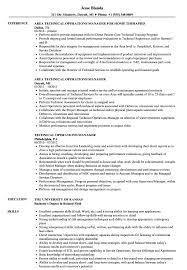 technical resume technical operations manager resume sles velvet