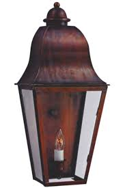 Wall Mount Sconce Keene Electric Copper Garden Lantern Wall Sconce For Sale