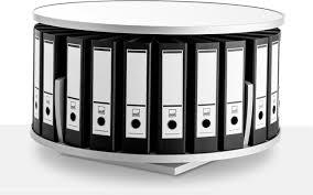 Desktop Filing Cabinet Moll Deluxe Desktop Binder And File Carousel Shelving White