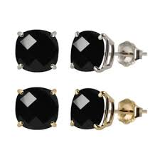 black onyx stud earrings kabella 14k yellow gold black onyx stud earrings free shipping
