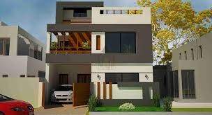 1 kanal house having basement complete front elevation and layout