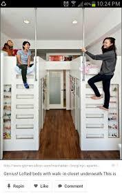 closet under bed closet under loft bed bunk beds with closets underneath great