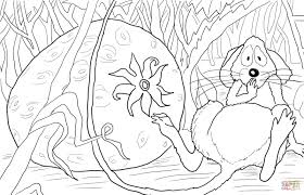 the little mouse the red ripe strawberry coloring page free