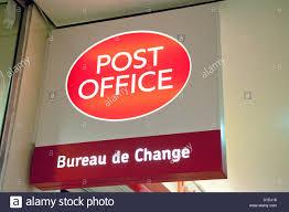 store de bureau post office bureau de change store sign mk centre milton keynes