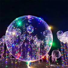 Bright Christmas Decorations Luminous Led Transparent 3 Meters Balloon Flashing Wedding Party