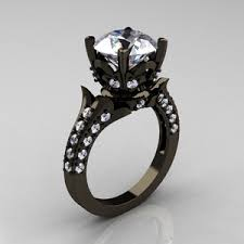 black cubic zirconia engagement rings engagement ring polyvore