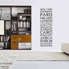 personalised destination wall sticker by oakdene designs personalised destination wall sticker