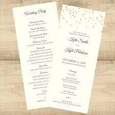 sided wedding programs gold confetti sided wedding programs pixie