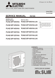 puhz sp100 140vha yha service manual och566 mitsubishi electric