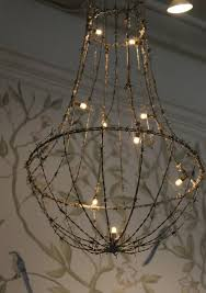 Wire A Chandelier Dishfunctional Designs Beautiful Upcycled Barbed Wire Creations