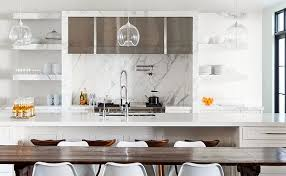 modern backsplash for kitchen modern kitchen marble backsplash black and white kitchen by biasol
