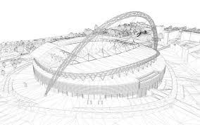3d wembley stadium london cgtrader