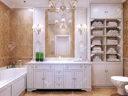 Furniture In Bathroom Furniture In Classic Bathroom Cream Colored Bathroom With White