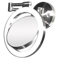 1x surround swivel wall mount mirror hard wire ready by zadro