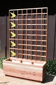 Wooden Planter With Trellis Mid Century Modern Commit Privacy Screen Or Trellis Googie