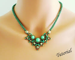 chimere beaded necklace beading tutorial beadweaving pattern seed