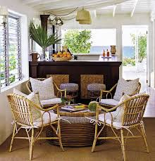 dining room captivating rattan dining sets in sunroom ideas with
