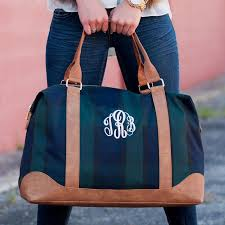 honeymoon bridal shower plaid monogram honeymoon bag monogram weekender bag plaid