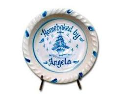 personalized pie plate ceramic personalized pie plates