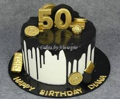 50th birthday cakes black and gold 50th birthday cake cakecentral