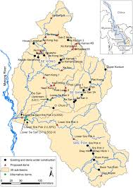 Mekong River Map Maintaining Sediment Flows Through Hydropower Dams In The Mekong