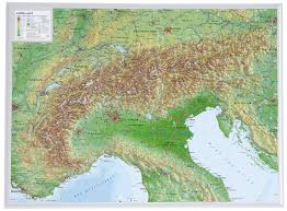 Map Og 3d Relief Map Alps Small Wall Maps
