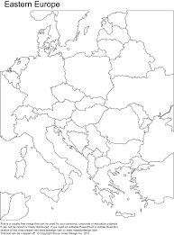 full page blank map of europe
