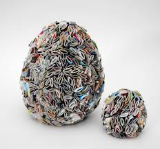 eggs made from recycled magazines home decor items paper egg