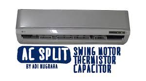 memperbaiki ac split swing motor thermistor capasitor lg s05lvx