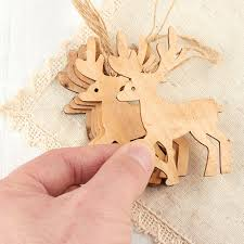 unfinished wood reindeer ornaments wood cutouts unfinished wood