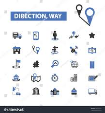 Map Direction Location Map Direction Route Car Navigation Stock Vector 351207110
