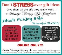 black friday deals on gift cards black friday sale atoka massage therapy