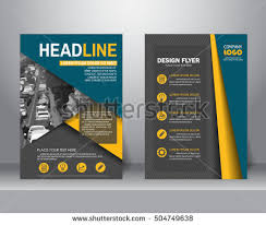 flyer graphic design layout formal business brochure flyer design layout stock vector hd