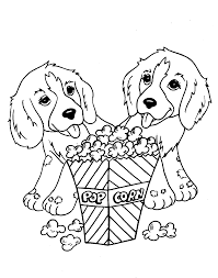 free printable puppies coloring pages for kids with of to print