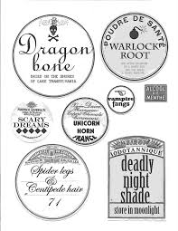 halloween apothecary jar labels free jar label templates virtren com