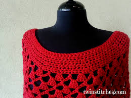 tw in stitches lacey trellis poncho spiral version free