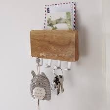 Mail And Key Holder 2017 Wood Mounted Key Holder Mail Letter Box Rack Wall Door 4 Key