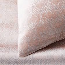 lustre velvet metallic ogee duvet cover pillowcases dusty