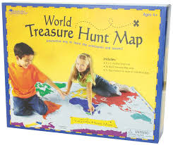 Southern Ocean Map Amazon Com Learning Resources World Treasure Hunt Map Toys U0026 Games